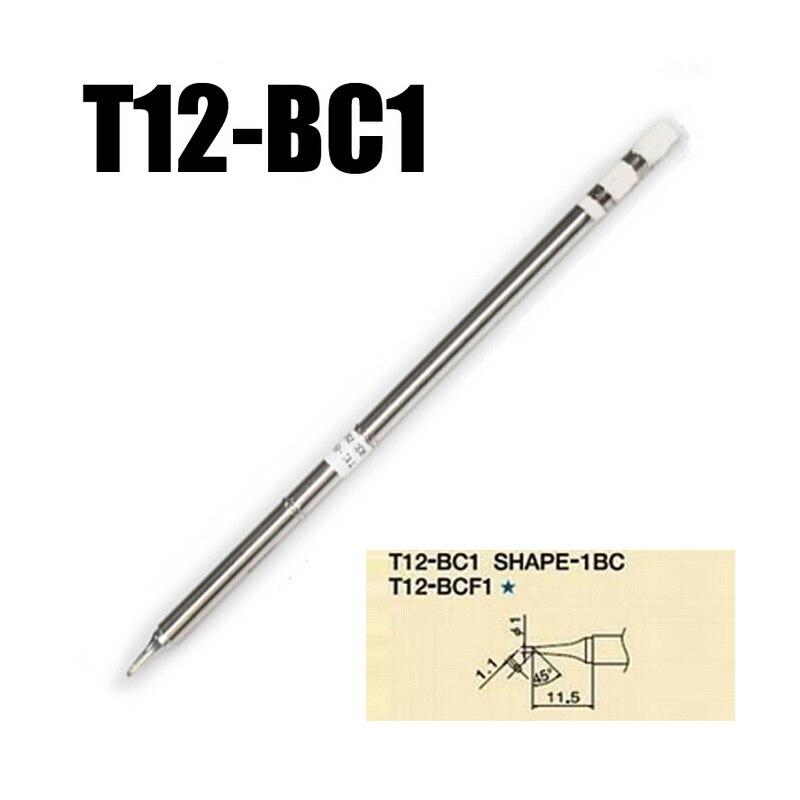 2pcs/lot T12-BC1 Soldering Solder Iron Tip Solder For FX-951 FX-952 Hakko Soldering Station