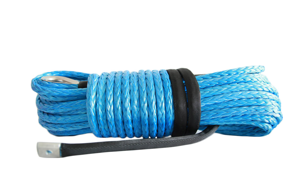 Free Shipping Blue 12mm*30m Synthetic Winch Rope,Rope for Electric Winches,Boat Winch Rope Extension