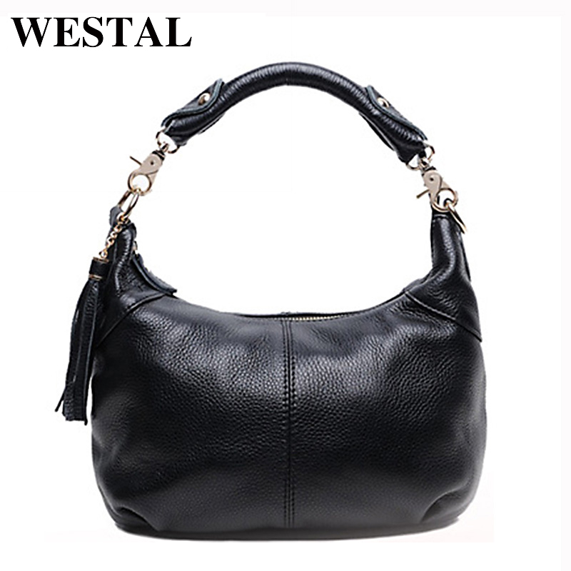 WESTAL Leather Handbag Totes Women Bag Genuine Leather Bag Casual Messenger Bags Female Crossbody Bags Female Bolsa 8863 dikizfly soft genuine leather women handbags casual totes bag real leather brand work handbag purse elegant messenger bags bolsa