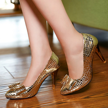 2015 Brand luxury women's sexy red bottoms high heels ladys gold silver spike casade shoes big size zapatos mujer pumps N2597