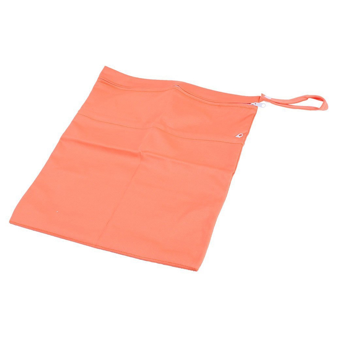 MACH Baby Infant Waterproof Zipper Wet and Dry Diaper Bag for Baby Carriage (Orange)