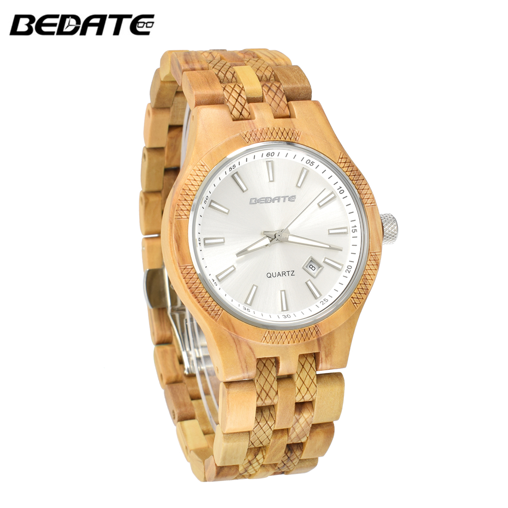 BEWELL Top Brand Luxury Dress Men s Gift Wood Watch Time Clock Quartz Wristwatch Full Nature