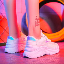 Женская Повседневная обувь 2018 Осень сетки женская обувь Туфли без каблуков на платформе на шнуровке Модные дышащие Для женщин кроссовки