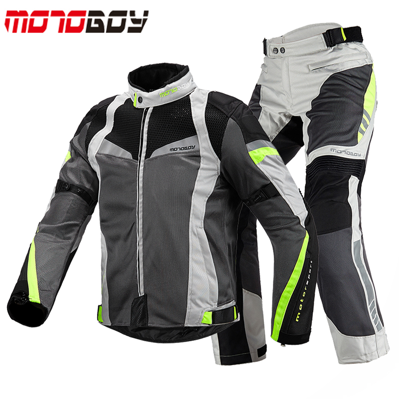 Motoboy Summer Men Motorcycle jackets pants 600D Oxford Cloths Motocross Racing jersey Dirt Bike Riding suits
