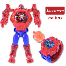 NEW Spiderman Cartoon Children Watches Robot Batman Irom Captain America Kids