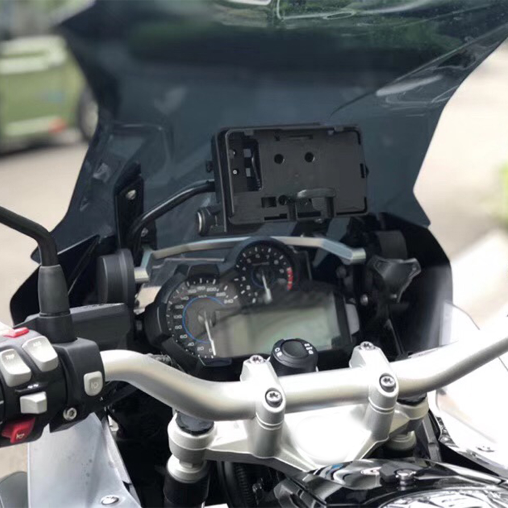 Mobile Phone Navigation Bracket Motorcycle USB Charging 12MM Mount For BMW R1200GS F700 800GS ADV For Honda CRF1000L Africa Twin