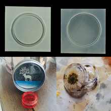 Small round box silicone mold resin molds DIY storage box jewelry manufacturing process resin molds for jewelry H133