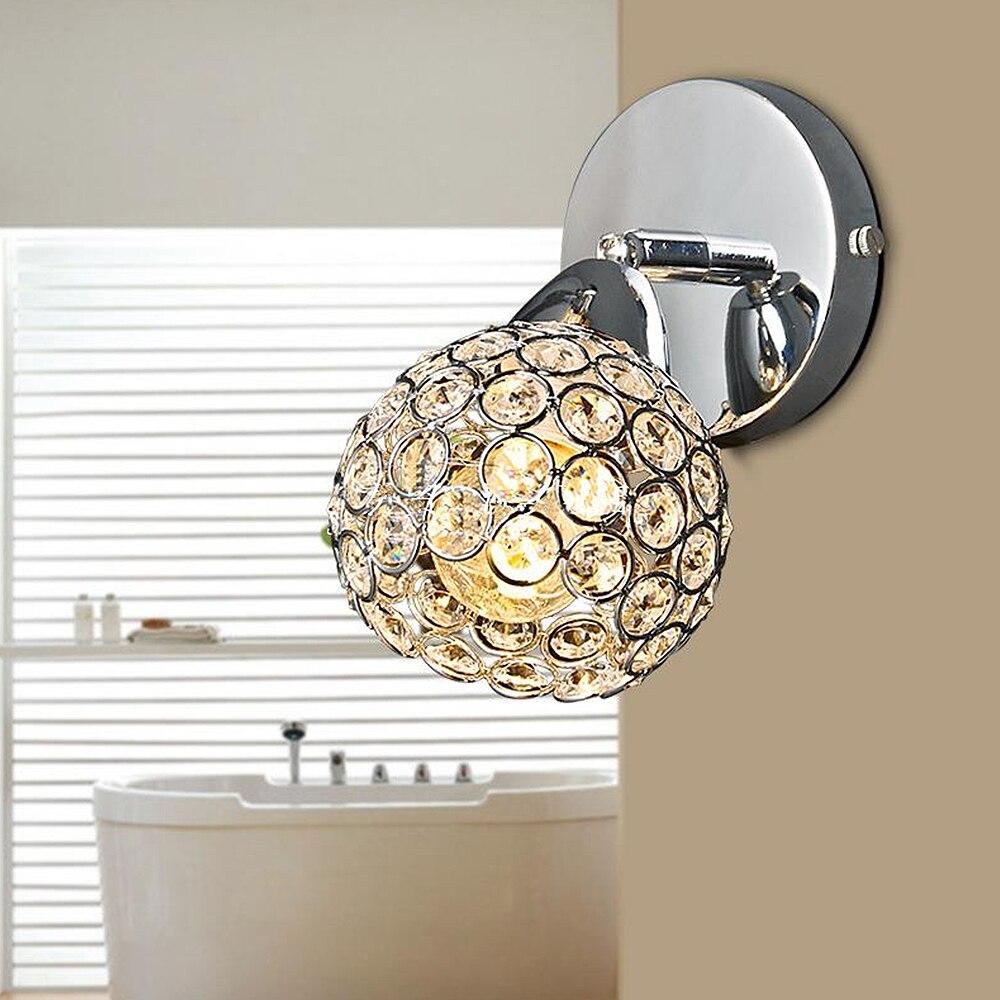 Ժամանակակից բյուրեղապակյա պատի լամպ - Ներքին լուսավորություն - Լուսանկար 4