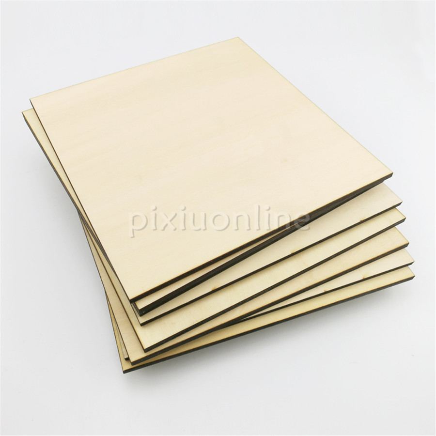 1pc J365 100*100mm Basswood Laminated Board Artificial Wood Board Model Material DIY Using Free Shipping Russia 1 pc 100