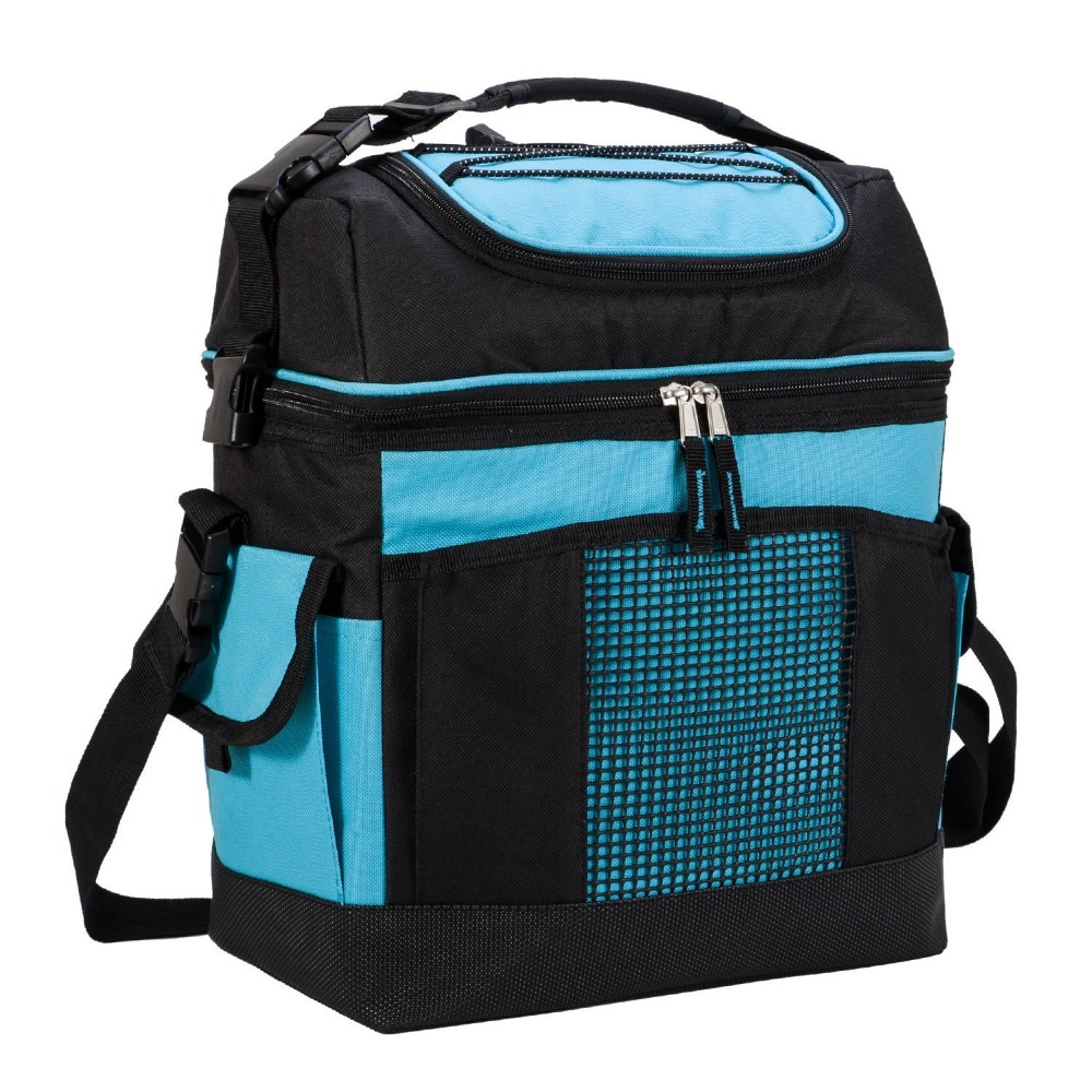 MIER 2 Compartment Large Cooler Bag Tote 24-Can Insulated Lunch Bag for Picnic, Grocery, Kayak, Car, Travel Ocean & Earth