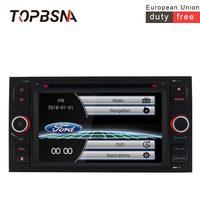 TOPBSNA 2 Din dvd для автомобиля Ford Mondeo S max Фокус C MAX Galaxy Fiesta gps навигации Bluetooth FM радио мультимедиа видео плеер