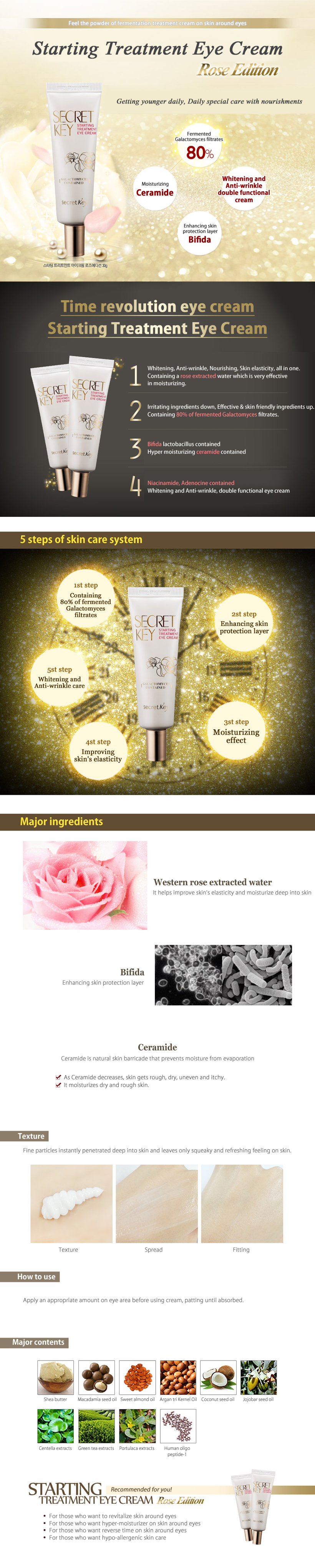Secret Key Starting Treatment Eye Cream Rose Edition 30g Care 50gr Dark Circle Anti Aging Moisturizing Korean Cosmetics On Alibaba
