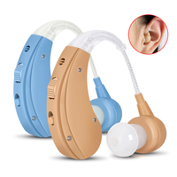 Cofoe BTE Hearing Aids Sound Amplifier Ear Care Tools Rechargeable Adjustable Hearing Aid For The Elderly/Hearing Loss Patient