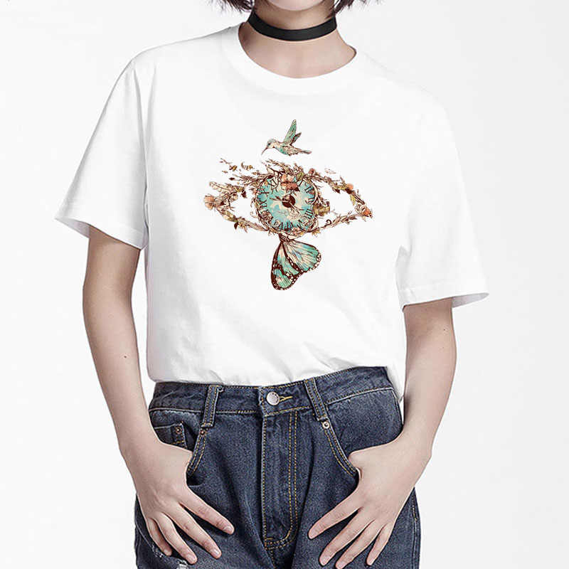BGtomato mắt Màu Xanh bướm Áo thun nữ siêu đẹp hoa áo nữ Chemise Femme camisetas verano mujer 2019 quần áo