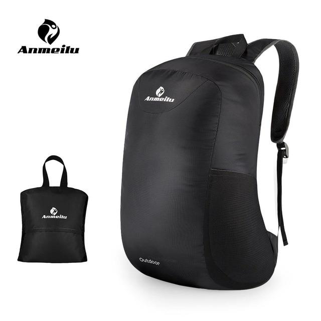 5187c6dc32e5 ANMEILU 15L Foldable Backpack Waterproof Climbing Rucksack Backpack Outdoor  Bag Cycling Backpack Travel Hiking Bag Stuff Sack