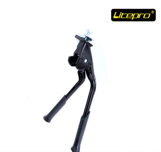 Litepro للطي دراجة رفوف مزدوجة حامل mtb الطريق دراجة جبل يبقى القدم مسنده التكيف