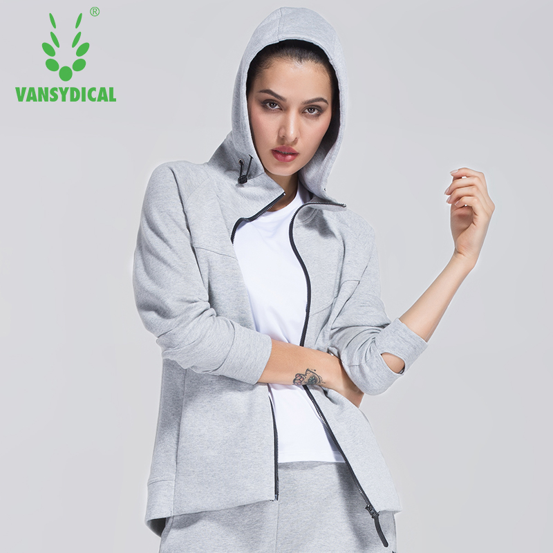 Women Jacket Training Exercise Sweaters Running Tops Workout Windcoat Hooded Shirt Vansydical