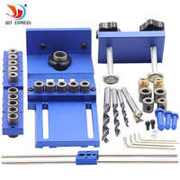 woodworking tool set log tenon hole punch combo triple punch locator woodworking hole saw Carpenter Kit