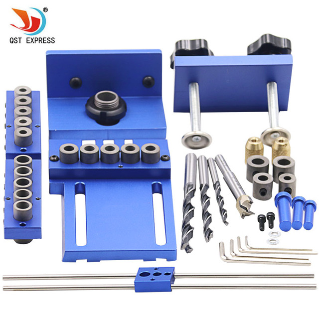Woodworking Tool Set Log Tenon Hole Punch Combo Triple Punch Locator
