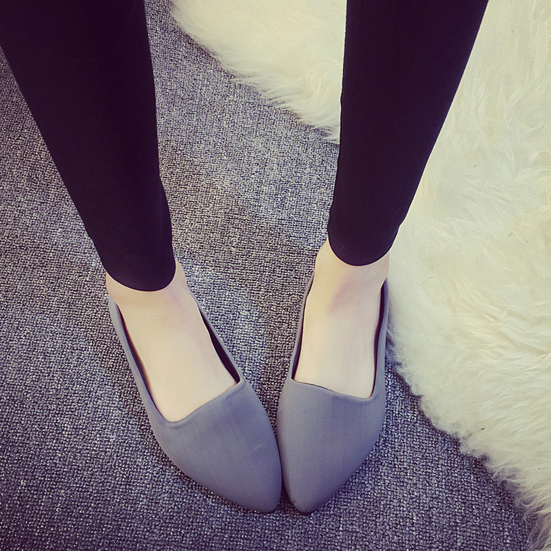 2017 New Arrival Women Flats Shoes Spring Summer Casual Lazy Solid Red Black Gray Girls Shoes Comfortable Women Flat Shoes HSC11 dreamshining new fashion women colorful flat shoes women s flats womens high quality lazy shoes spring summer shoes size eu35 40