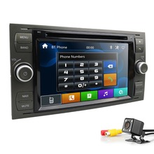 Горячие Продажа Новые 7 дюймов Автомобильный DVD gps плеер для Ford Focus/Mondeo/Transit/C-MAX/Fiest gps RDS колеса Steeling Бесплатная Камера + 8G карта