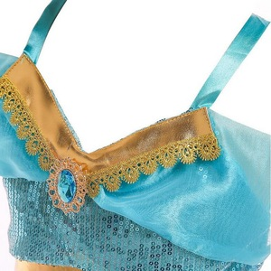 Image 3 - Kids Girls Princess Jasmine Costumes For Children Party Belly Dance Dress Indian Costume Halloween Christmas Party Cosplay 3 10T