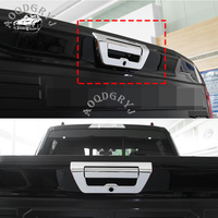 ABS CHROME Trunk tail door handle trim cover For Ford F150 2015 2018 Decorative stickers car styling