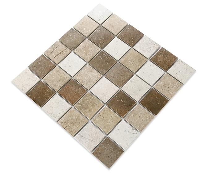 Estremamente Marrone Porcellana mosaico rustico rivestimenti per la casa della  BO25