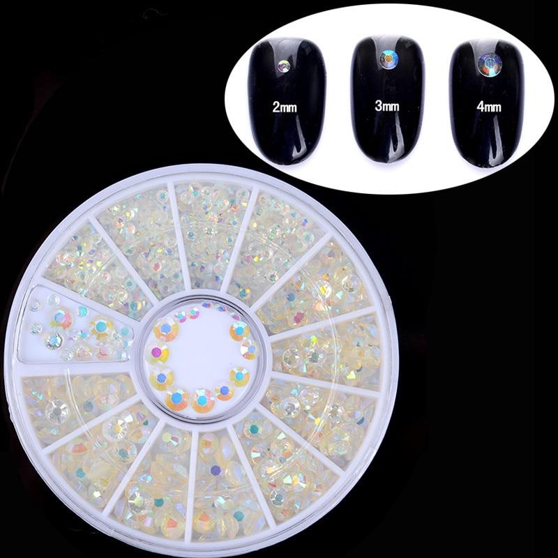 1 Box Färgglada Shinning Nail Rhinestones Skarpa Flat Bottom Studs - Nagel konst - Foto 3