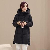 KUYOMENS Women Winter Coat Long sleeve Jackets Splice Hooded Long Jacket Thick Warm Cotton Down jacket Large size Womens Coat