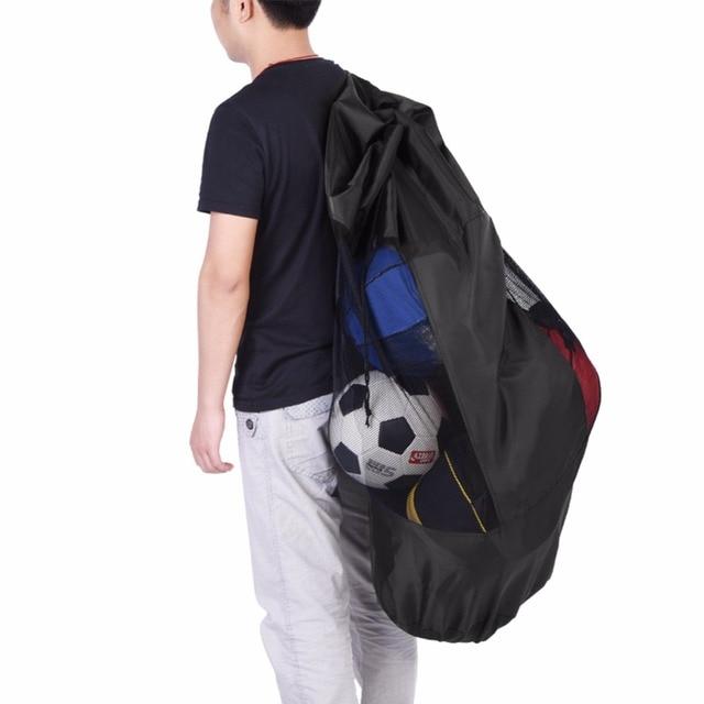 4f969c66338f Outdoor Soccer Basketball Carry Bag Portable Sports Rope Equipment Football  Balls Volleyball Ball Mesh Drawstring Bag