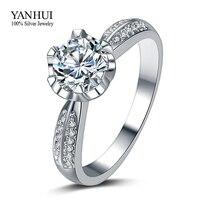 Big Promotion Luxury Real 18K White Gold Filled Engagement Ring Set 1 Carat Simulated Diamond Wedding