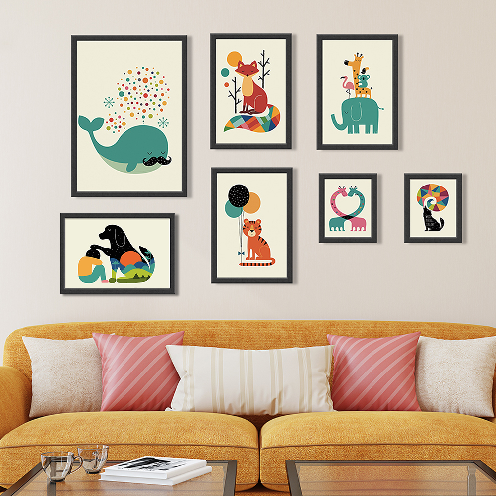 Online get cheap nursery wall painting for Modern nursery images