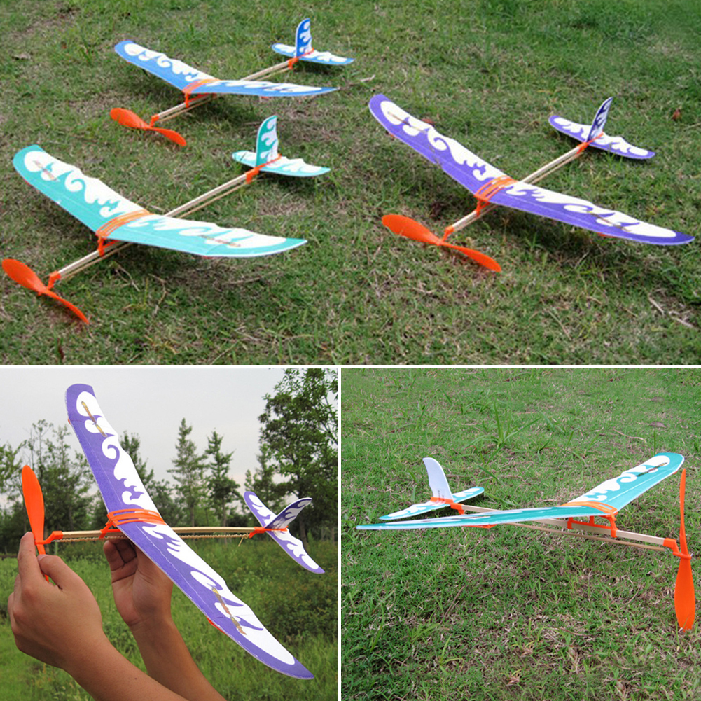 Rubber Band Airplane Novel Jet Glider Model Airplane Boys Toys  # Modele Banc En Bois