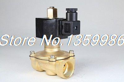 Normal Open 2way2position AC220V 1 Electric Solenoid Valve Water Air N/O