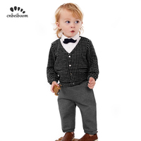 2019 new spring baby boys clothing sets toddler children suit high quality Plaid children boy outfits shirts pant Clothes Suits