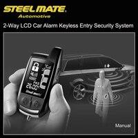 אוניברסלי Keyless מערכת אזעקה ברכב LCD שתי בדרך Steelmate 888E כניסת אבטחה חכם מערכת שלט רחוק לרכב מפתח לפיג 'ו 307