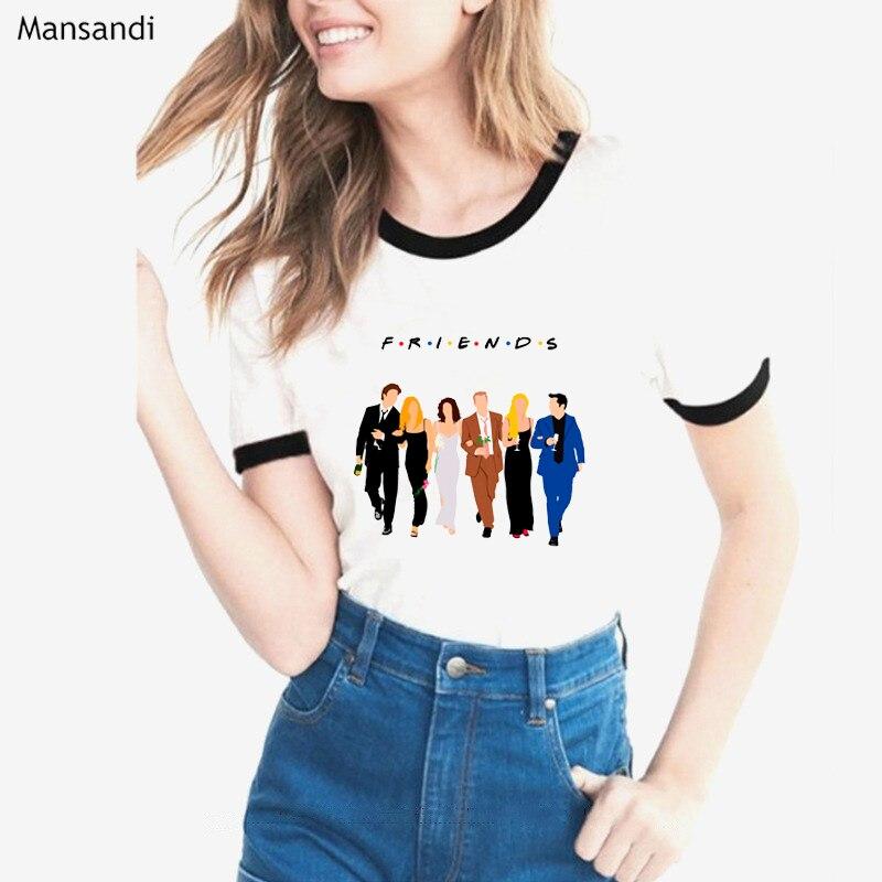 Best friends T Shirt Women vogue white friends TV show tshirt femme harajuku tumblr clothes female t-shirt camiseta mujer tops