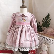 Dress for Spanish Turkish Pink Baby-Girl Lolita Vintage Princess-Gown Deer Long-Sleeve