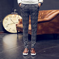 2016 New Plaid Pants Men Straight Casual Formal Pants Men Office Workwear Erkek Kareli Pantolon homme Slim Mens Plaid Trousers