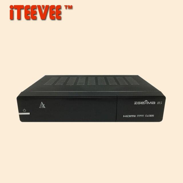 1PC Zgemma star H5 Enigma 2 Linux Dual Core DVB-S/S2 HYBRID DVB-C/T/T2 Tuner Satellite Receiver H.265 HEVC Smart TV Box S2 T2