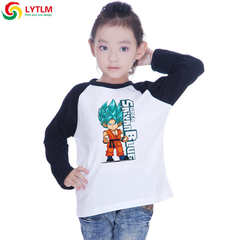 LYTLM Anime Shirt for Girls Dragon Ball Boys Tshirts Summer 2019 Son Goku T-shirt Toddler Boys Top Long Sleeve Moleton Infantil(China)