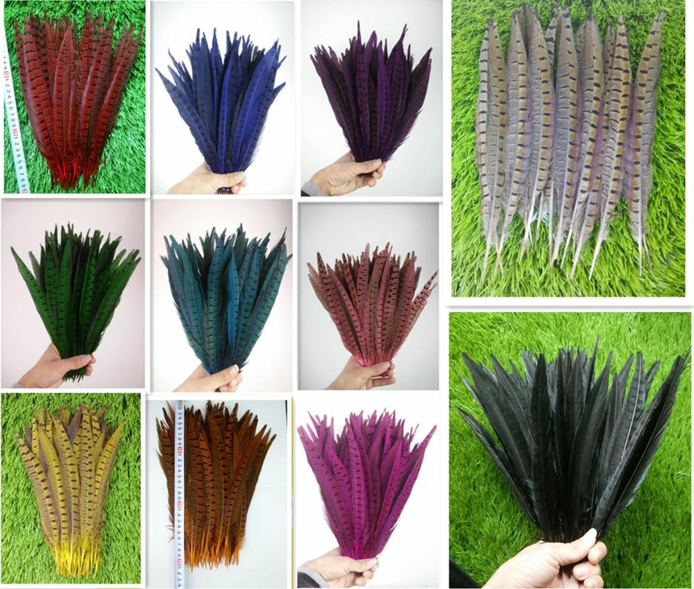 50 piezas de plumas de cola de faisán de alta calidad, 25-30cm, - Artes, artesanía y costura