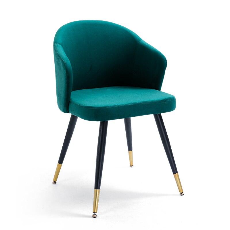 Lampe nordique luxe chaise de salle à manger chaise de maquillage des ongles en fer chaise de dressage moderne minimaliste chaise de maison