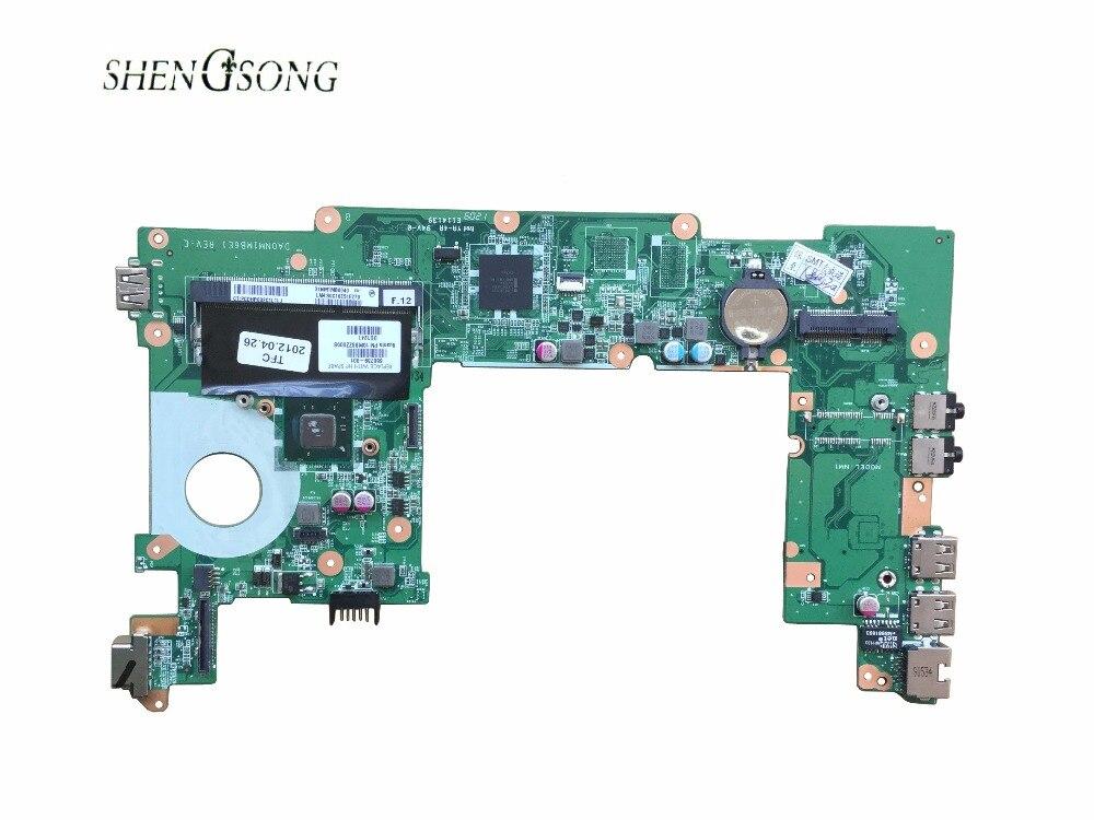 free shipping 650739-001 for HP CQ10 MINI 110 MINI 210 laptop motherboard with for Intel CPU N570 замена абсолютно новый аккумулятор для ноутбука hp compaq mini cq10 100eb mini cq10 100er mini cq10 100ek mini cq10 100so
