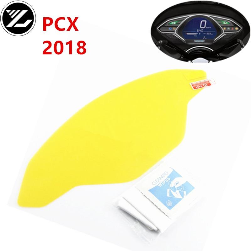 NO LOGO KF-Visor for Hondoa PCX 150 2018 2019 Cluster Scratch Protection Film Speedo Strumento Dashboard Shield for Honda PCX 150 2018 PCX150 Taglia : One Piece