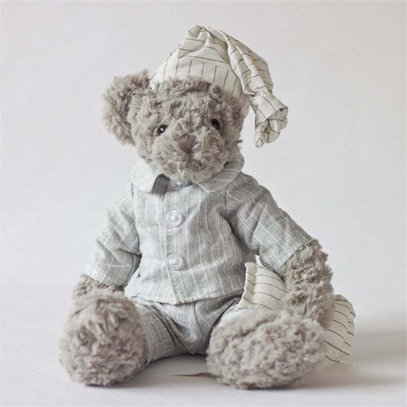 Plush toy grey bear wear gery shirt handsome bear stuffed toys new design high quality size sit 21cm total 34cm 2pcs 12 30cm plush toy stuffed toy super quality soar goofy