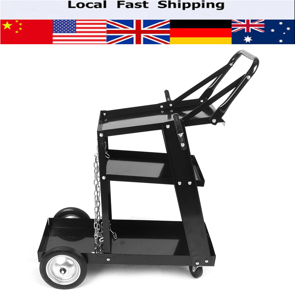 Black Welding Cart / Trolley For MIG TIG ARC MMA Welder Plasma Cutter Mobile HOT  цены
