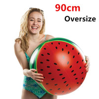 90cm Oversize Watermelon Inflatable Beach Ball Water Balloons Volleyball Beach Party Game Toys for Adult Kids Outdoor Sport Ball
