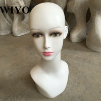 Reputation guarantee! High quality PE Realistic female mannequin Manikin dummy head for hat & sunglass & jewelry& wigs display